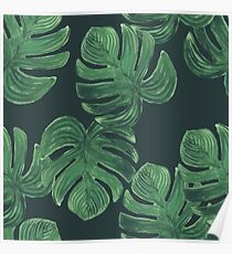 Tropical leaves. Jungle leaves pattern Poster