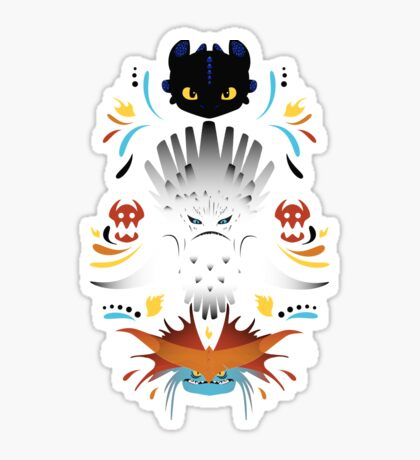 Trained Dragons Sticker
