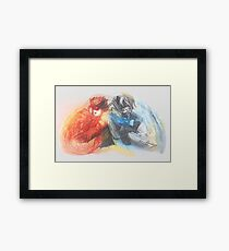 RedBlue 101  Framed Print