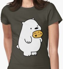 Ice Bear Cookies Womens Fitted T-Shirt