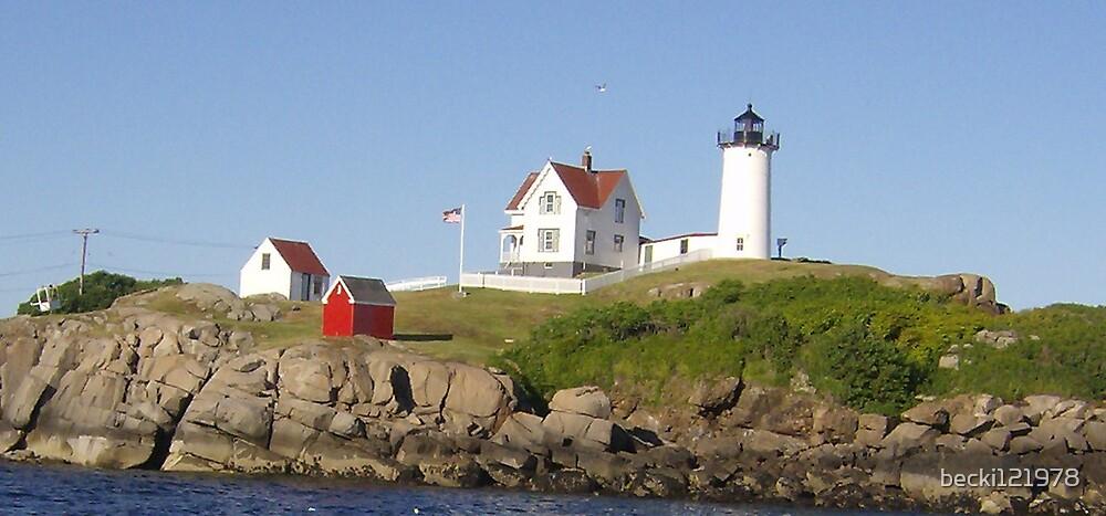 Maine Light House by becki121978