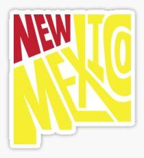 New Mexico Typography Sticker