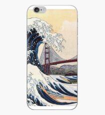 Große Welle vor Kanagawa / Golden Gate Bridge iPhone-Hülle & Cover