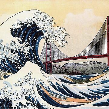 Great Wave Off Kanagawa / Golden Gate Bridge by dreamtofly