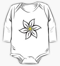 Edelweiss on Red One Piece - Long Sleeve
