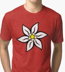 Edelweiss on Red Tri-blend T-Shirt