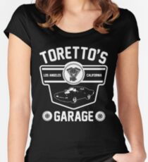 Toretto's Garage Women's Fitted Scoop T-Shirt