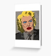Anti racist greeting cards redbubble happy birthday mr president greeting card bookmarktalkfo