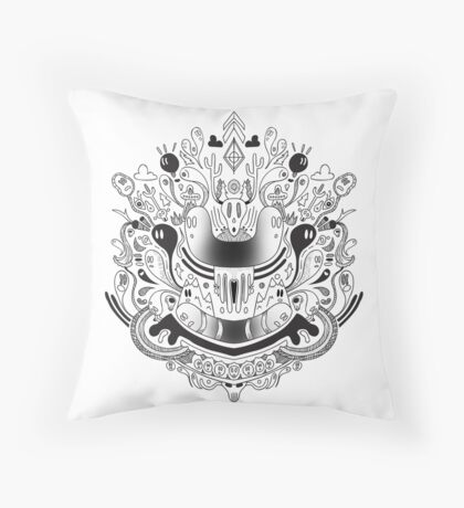 De Mente Throw Pillow
