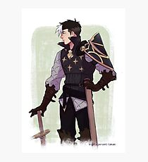 Fire Emblem x Voltron Crossover - Mercenary Shiro Photographic Print