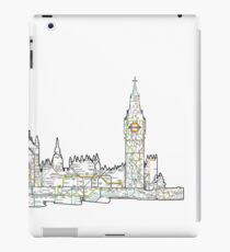 London Skyline with the tube iPad Case/Skin