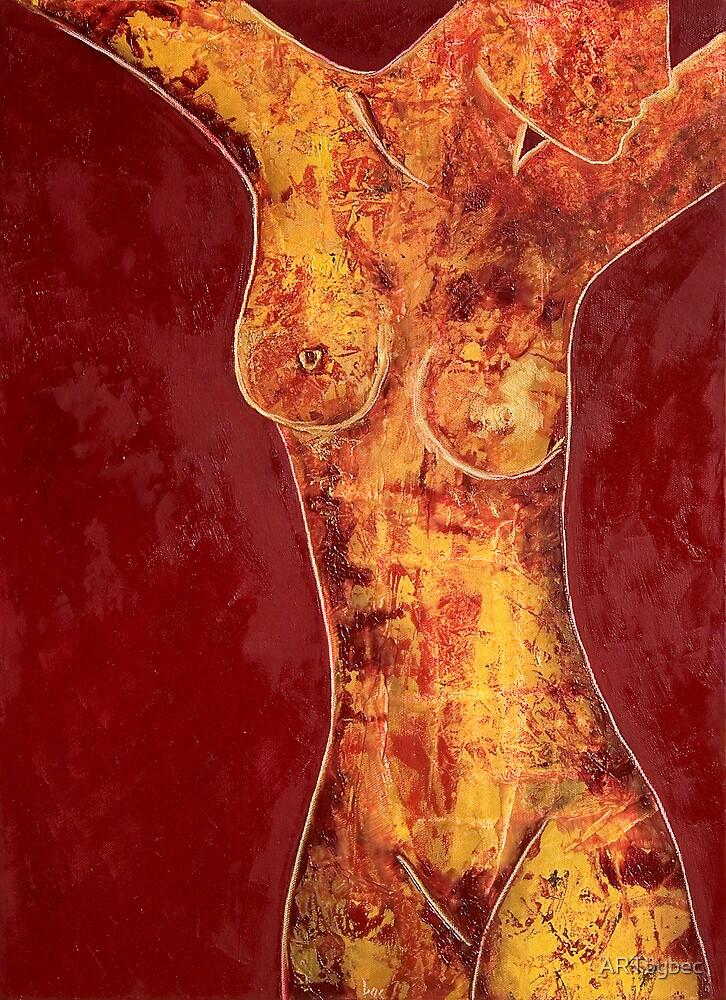"""ART by bec """"Alizarin Nude"""" by ARTbybec"""