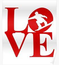Love Snowboarding - Snowboard Lover - Snowboarder  Poster