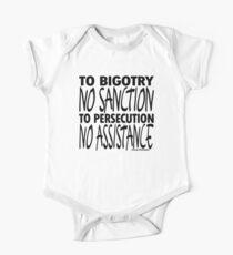 To Bigotry No Sanction One Piece - Short Sleeve