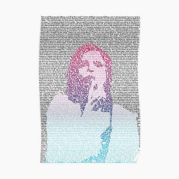 Badlands Lyrics (Gradient) Poster