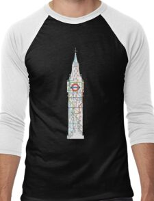 big ben the underground London design Men's Baseball ¾ T-Shirt