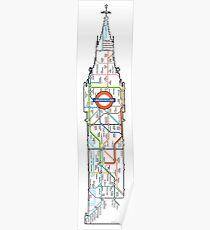 big ben the underground London design Poster
