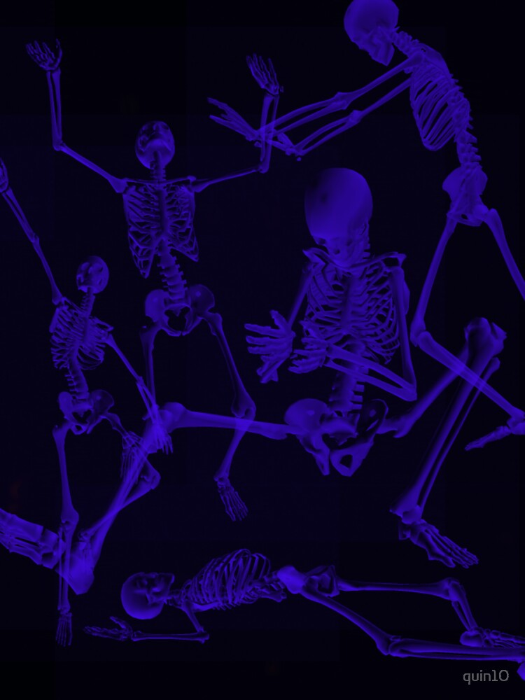 Blue Skeletons by quin10