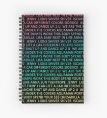 Cuaderno de espiral Walk The Moon songs
