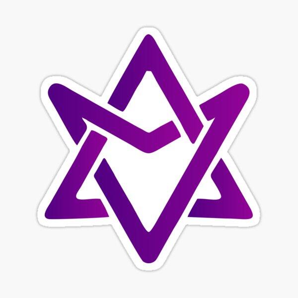 Astro vívido espacio ciruela violeta Pegatina
