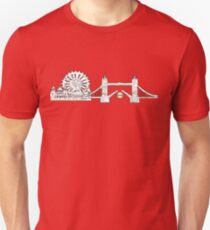 London Eye and tower bridge, London design Unisex T-Shirt