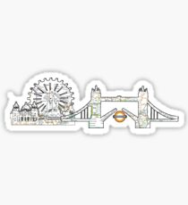 London Eye and tower bridge, London design Sticker