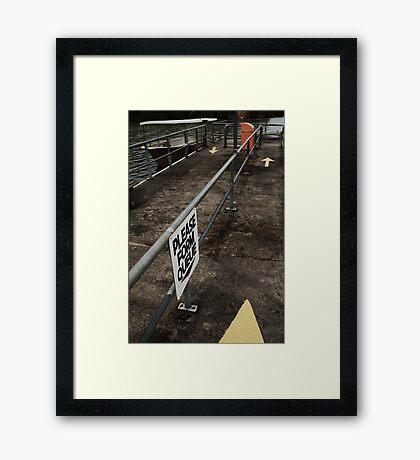 Post-war v.6 Framed Print