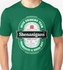 Saint Patrick's Day Shenanigans Beer Label Unisex T-Shirt