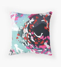 Kimball - Free abstract painting in modern color palette Throw Pillow