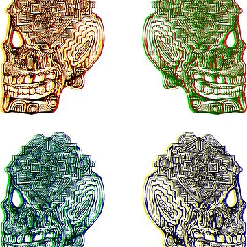two three four skulls by jneves