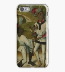 King Balthasar, One Of The Three Magi, And A Servant, Fragment From An Adoration Of The Magi, 1490 iPhone Case/Skin