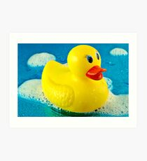 Bubble Duck Art Print