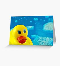 Bubble Duck Greeting Card
