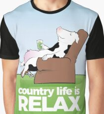 Country Life is Relax Graphic T-Shirt