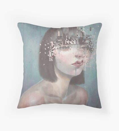 Glitch 02 Throw Pillow