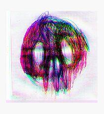 Neon Skull Photographic Print