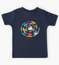 Psychedelic sleeping cat Kids Clothes
