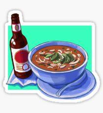 Noodle Soup & Beer Sticker