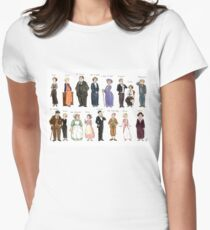 Downton Abbey portraits Women's Fitted T-Shirt