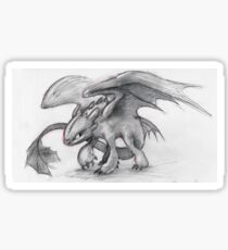 Toothless Pencil Drawing Sticker