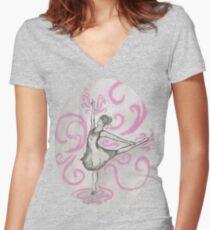 Ballerina Series Part 2 Women's Fitted V-Neck T-Shirt