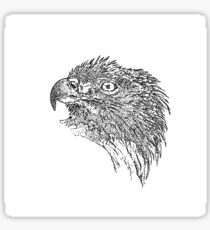 eagle, black and white drawing Sticker