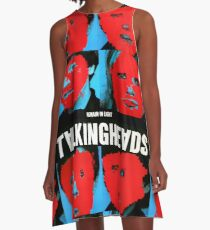 Bleib in Talking Heads A-Linien Kleid