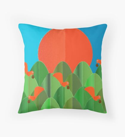 Squirrel Family Throw Pillow