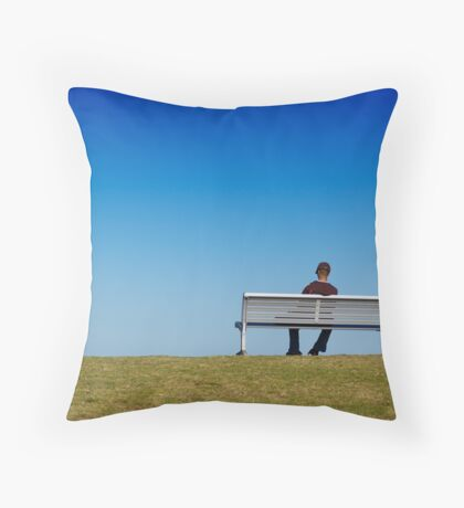 View to the ocean Throw Pillow