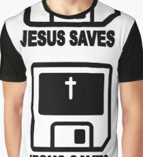 JESUS SAVES - RETRO Graphic T-Shirt