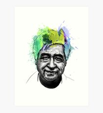 Cesar Chavez Portrait Art Art Print