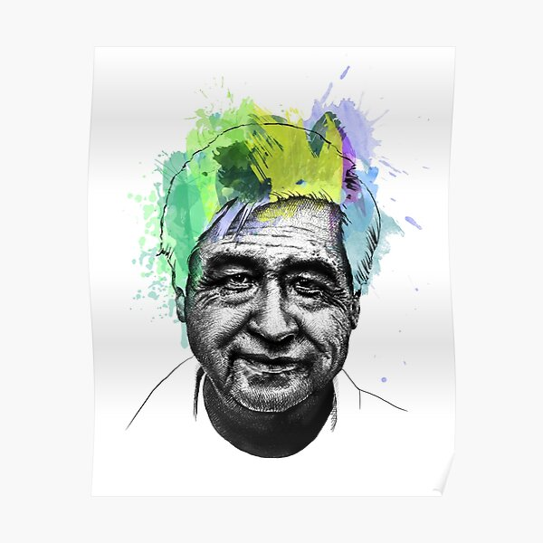 Cesar Chavez Portrait Art Poster