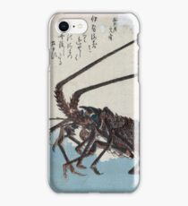 Ando Hiroshige - Shrimp And Lobster iPhone Case/Skin