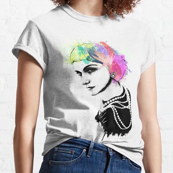 Tinta de Coco Chanel + arte del retrato de la acuarela Camiseta clásica